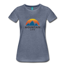 Load image into Gallery viewer, Women's Mountain Life Shirt - heather blue