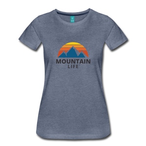 Women's Mountain Life Shirt - heather blue