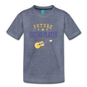 Toddler Guitar Player T-Shirt - heather blue