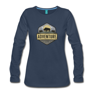 Women's Adventure Life Long Sleeve Shirt - navy