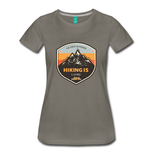 Women's Hiking T-Shirt - asphalt