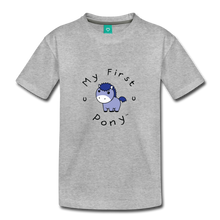 Load image into Gallery viewer, Toddler My First Pony T-Shirt (blue patch) - heather gray