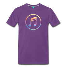 Load image into Gallery viewer, Men's Colored Music Note T-Shirt - purple
