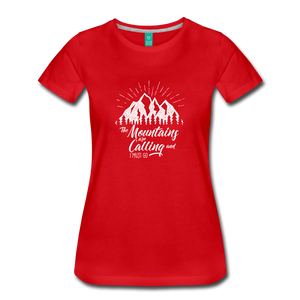 Women's Mountains T-Shirt (white) - red