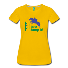 Load image into Gallery viewer, Women's Just Jump It T-Shirt - sun yellow