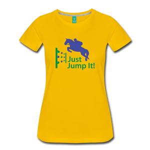 Women's Just Jump It T-Shirt - sun yellow