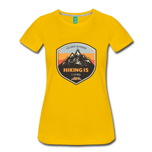 Load image into Gallery viewer, Women's Hiking T-Shirt - sun yellow