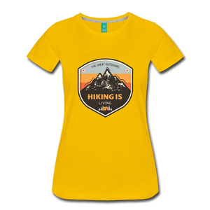 Women's Hiking T-Shirt - sun yellow