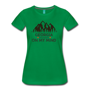 Women's Georgia on my Mind T-Shirt - kelly green