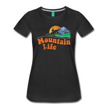 Load image into Gallery viewer, Women's 60s Mountain T-Shirt - black