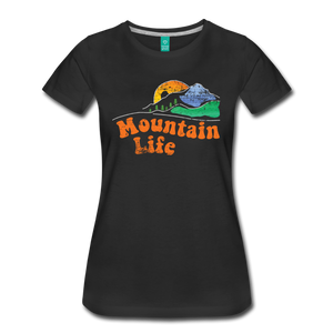 Women's 60s Mountain T-Shirt - black