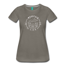 Load image into Gallery viewer, Women's Distressed Mountain Life T-Shirt - asphalt gray