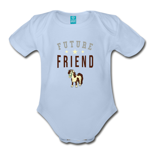 Future Friend Baby Bodysuit - sky