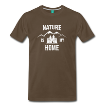 Load image into Gallery viewer, Men's Nature T-Shirt (white) - noble brown