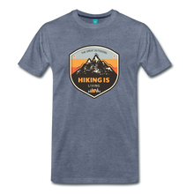 Load image into Gallery viewer, Men's Hiking T-Shirt - heather blue