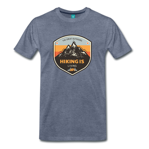 Men's Hiking T-Shirt - heather blue