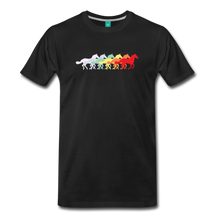 Load image into Gallery viewer, Men's Retro Rainbow Horse T-Shirt - black
