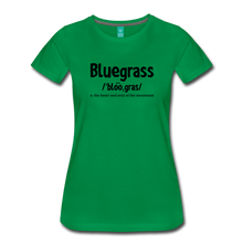 Load image into Gallery viewer, Women's Bluegrass Definition T-Shirt - kelly green