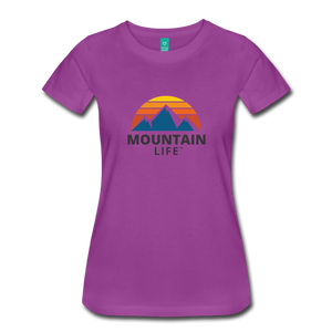 Women's Mountain Life Shirt - light purple