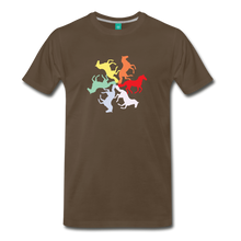 Load image into Gallery viewer, Men's Rainbow Horse Circle T-Shirt - noble brown