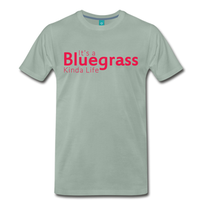 Men's Bluegrass Kinda Life T-Shirt - steel green