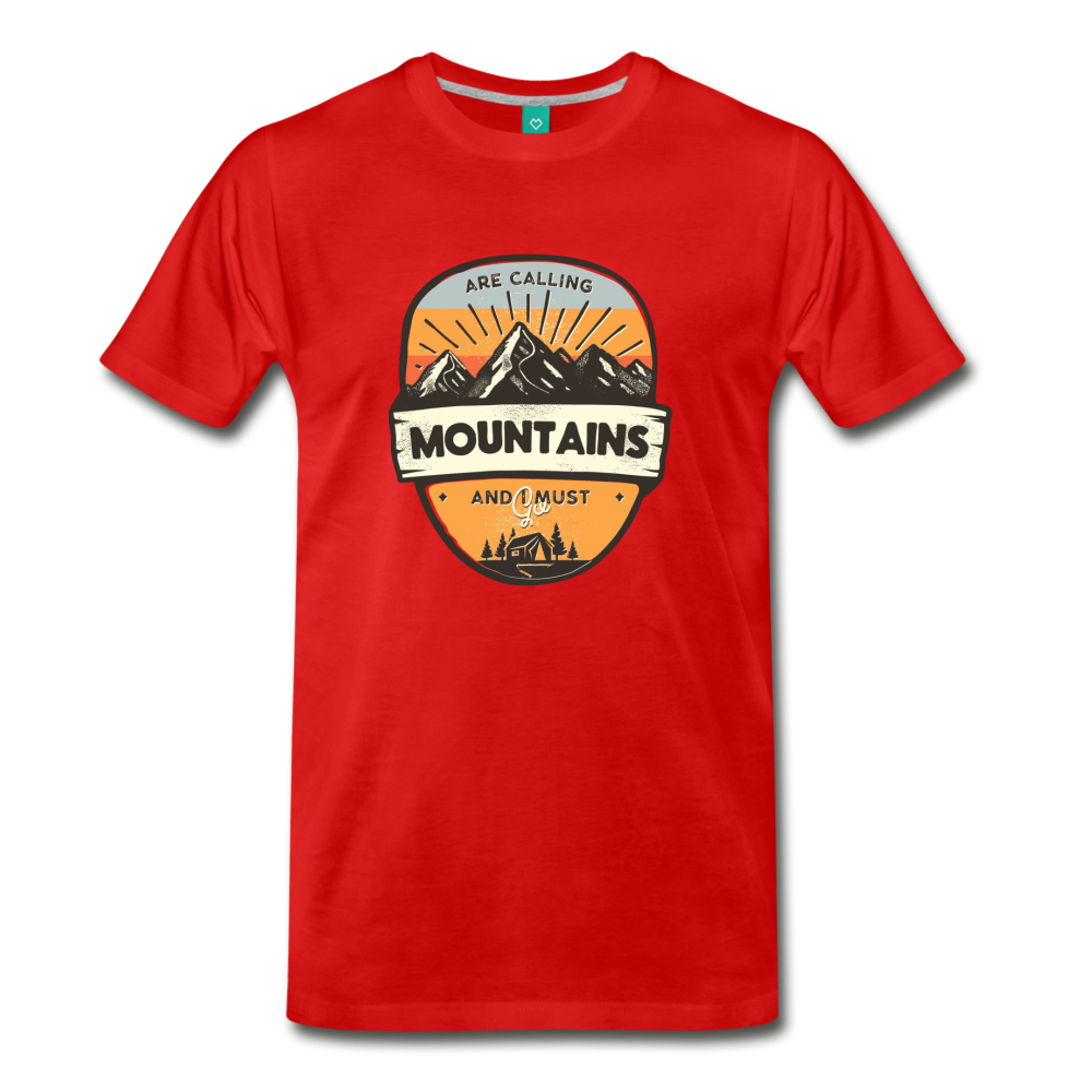 Men's Mountain's Calling T-Shirt - red