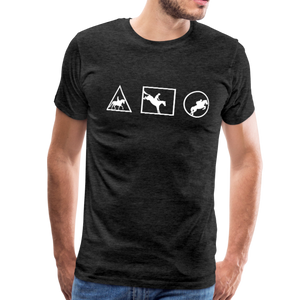 Men's Horse Symbols (solid) T-Shirt - charcoal gray