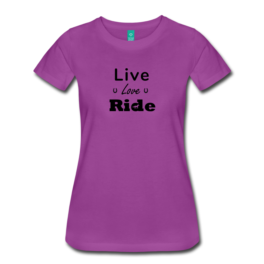 Women's Live Lover Ride T-Shirt - light purple