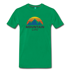 Mountain Life Shirt - kelly green