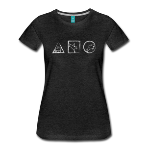 Women's Horse Symbols T-Shirt - charcoal gray