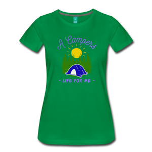 Women's Campers Life T-Shirt - kelly green