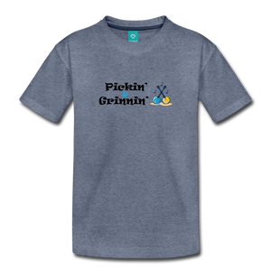 Toddler Pickin and Grinnin T-Shirt - heather blue