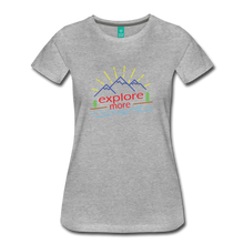 Load image into Gallery viewer, Women's Colored Explore More T-Shirt - heather gray