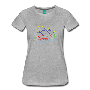 Women's Colored Explore More T-Shirt - heather gray