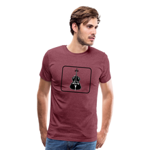 Load image into Gallery viewer, Men's Upright Bass  Icon T-Shirt - heather burgundy