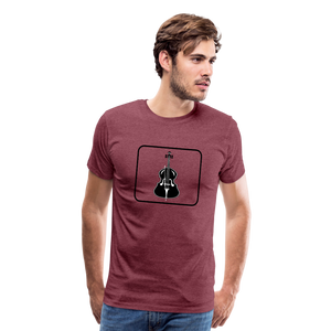 Men's Upright Bass  Icon T-Shirt - heather burgundy