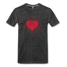 Load image into Gallery viewer, Men's Sunburst Heart Banjo T-Shirt - charcoal gray