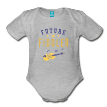 Load image into Gallery viewer, Future Fiddler Baby Bodysuit - heather gray