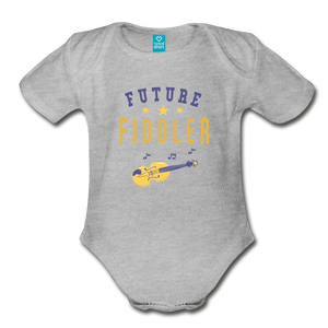 Future Fiddler Baby Bodysuit - heather gray