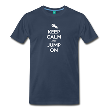 Load image into Gallery viewer, Men's Keep Calm and Jump On T-Shirt - navy