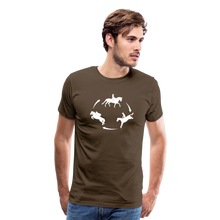 Load image into Gallery viewer, Men's 3-Day Eventing Circle T-Shirt - noble brown