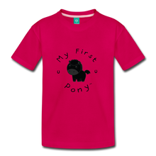 Load image into Gallery viewer, Kids' My First Pony T-Shirt (black) - dark pink