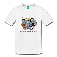 Load image into Gallery viewer, Kids' In the Zoo Crew T-Shirt - white
