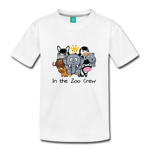 Kids' In the Zoo Crew T-Shirt - white