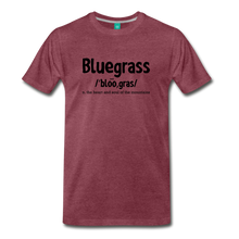 Load image into Gallery viewer, Men's Bluegrass Definition T-Shirt - heather burgundy