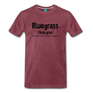 Men's Bluegrass Definition T-Shirt - heather burgundy