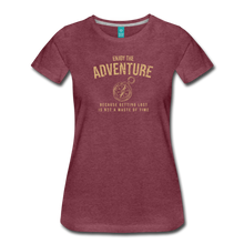 Load image into Gallery viewer, Women's Enjoy the Adventure T-Shirt - heather burgundy