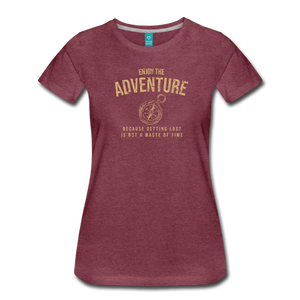 Women's Enjoy the Adventure T-Shirt - heather burgundy