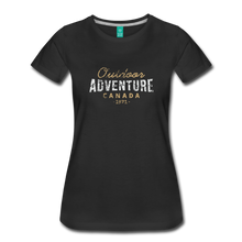 Load image into Gallery viewer, Women's Outdoor Adventure Canada T-Shirt - black