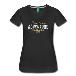 Women's Outdoor Adventure Canada T-Shirt - black